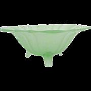 Fenton Three Foot Vaseline Glass Bowl