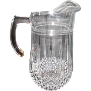 Crystal Pitcher with Quilted Diamond Pattern