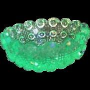 Florescent Uranium Green Glass Salt Cellar
