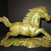 Antique Hand Carved Jade Horse