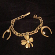 Vintage Good Luck Bracelet from the 1960's