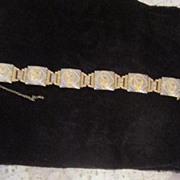 Vintage Egyptian Revival Queen Nefertiti Bracelet