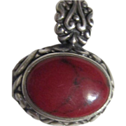 Sterling Silver with Stone Pendant for a Necklace