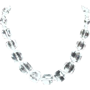 Tarina Tarantino Clear Lucite and Crystal Necklace