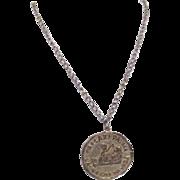 Caeser's Palace Las Vegas Coin Pendant Necklace