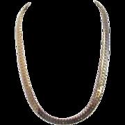 Napier Goldtone Flat Mesh Chain Necklace