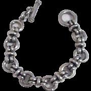 Heavy Sterling Silver Unisex Chain Bracelet