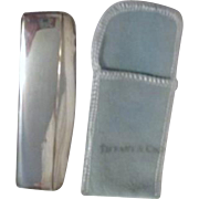 Tiffany Sterling Silver Comb in Case with Felt Pocket