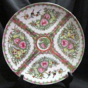SALE Chinese Canton Rose Medallion Charger Plate-19Cen
