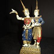 Vintage Bronze Siam Temple Dancers