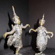Vintage Siam Bronze Siam Temple Dancers