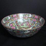 Vintage Chinese Rose Familia Porcelain Bowl