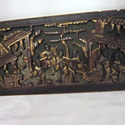 SALE Chinese Architectural Wood Panel