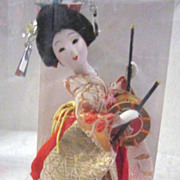 SALE Vintage Small Geisha Doll with Drum