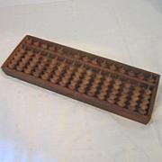 SALE Antique Japanese Wood Soroban (Abacus)