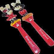 Pair of Disney Backscratchers Mickey and Minnie