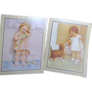 Two Vintage Ready to Frame Bessie Pease Gutmann Prints