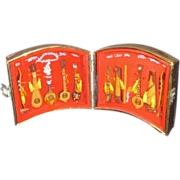 SALE Eleven Miniature Handmade Vietnamese Musical Instruments in Case