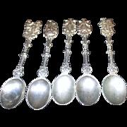 5 Small Decorative Spoons