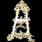 SOLD Large Brass Presentation Easel