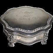 Silver Plated Inscribed Presentation Keepsake Box