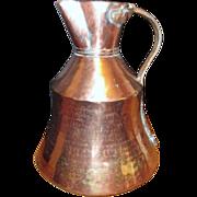 SALE Antique Copper Pitcher