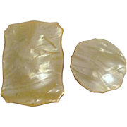 Two Celluloid Topped Vanity Boxes