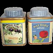 Vintage Labels Salt & Pepper shaker Set by Sakura Division of Oneida