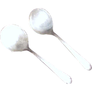 Pair of Silver Plate Soup Spoons Fairfield Tulip