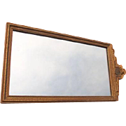 SALE Gilted Wood Framed Mirror with Etched Design