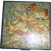 Metal Compact with Alaska Map