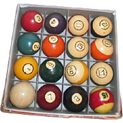 Boxed Set of Brunswick Pocket Balls (Billiards) Original Box