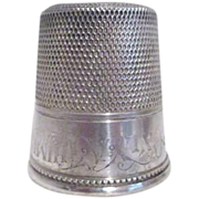 Only a Thimble Full Sterling silver Shot Glass by Simons Bros.