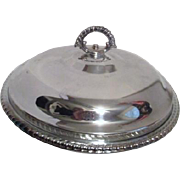 SALE Silver Plated Covered Casserole Dish with Pyrex Insert