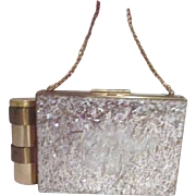 Compact and Lipstick Purse by Zell of 5th Ave c1940-1950.