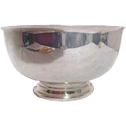 SALE Reed and Barton Silver Plated Footed Bowl Red Interior