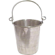 SALE Small Silver Plate Bucket with Strainer