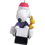 Hallmark Keepsake Christmas Ornament Snoopy the Literary Ace