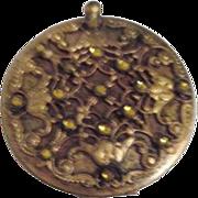 Trinity Plate Art Nouveau Gold Ormolu Compact