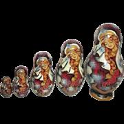Set of 5 Matryoshka Russian Nesting Dolls