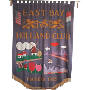 Handmade East Bay Holland Club Banner with Quilted Story
