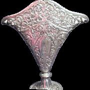 SALE Silver Plated Ornate Altar Vase by Godinger Silver Art Co.