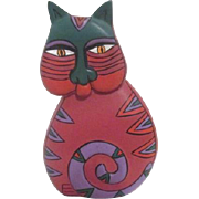 Laurel Burch Painted Wood Cat
