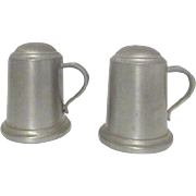 Pair of Pewter Tankard Salt and Peppers Shakers by Web Pewter