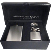 Alexander Julian Colours Mini Stainless Flask, Mini Flask and Funnel in Original Presentation