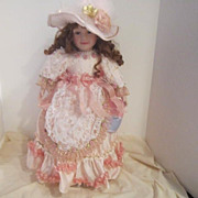 """Vintage Handcrafted Porcelain Doll """"Jenna"""" by William Tung"""
