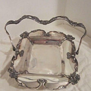 SALE Vintage Silver Plated Brides Basket By Forbes