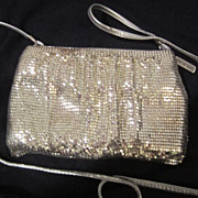 SALE Vintage Silver Mesh Whiting and Davis Evening Bag-purse
