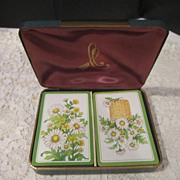 Vintage Hallmark 2 Decks Playing Cards in Solid Case