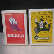 Vintage Playing Cards from Harold's and Fitzgerald's